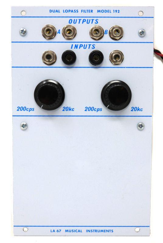 192 - Dual LoPass Filter | La67