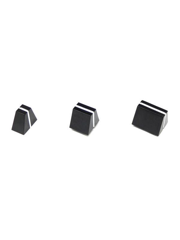 Black/White Angled Slider Caps 1.2x4.0