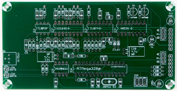 Ambika Desktop Poly Synth Project SVF Voice Card PCB