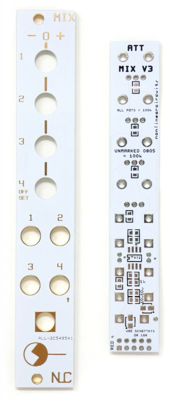 4hp Mix - 4 Channel Mixer   NonLinear Circuits