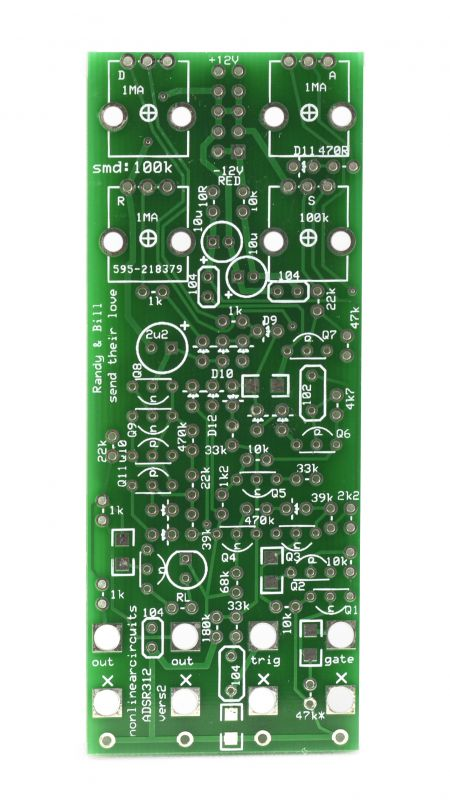 NonLinear Circuits ADSR312 DIY ADSR PCB - Synth-DIY