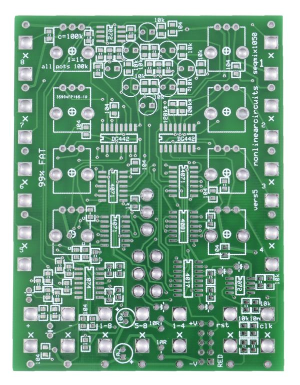 Nonlinearcircuits 1050 Mixer/Sequencer PCB