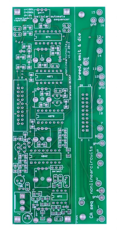 Nonlinearcircuits Cellular Automata PCB