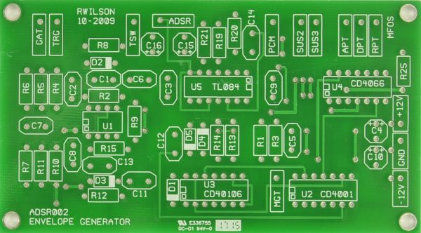 Music From Outer Space ADSR PCB