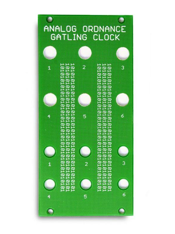 Gatling Clock - PCB/Panel | Analog Ordnance