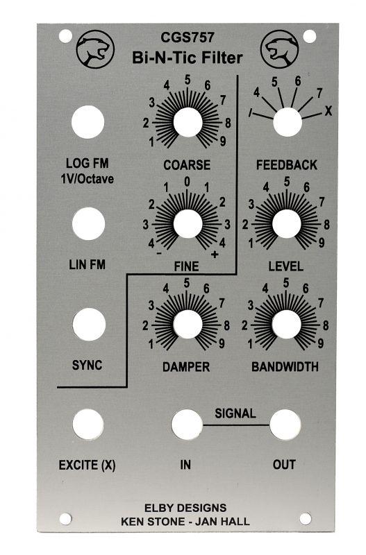 CGS757 Bi-N-Tic DIY Synth Eurorack Panel