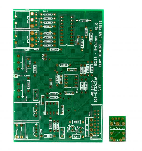 Elby Designs / Ian Fritz 5-Pulser DIY Synth PCB