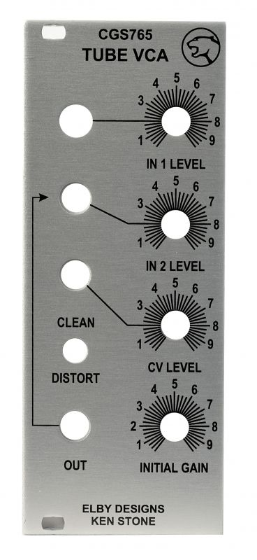 DIY Tube Synth VCA - Panel