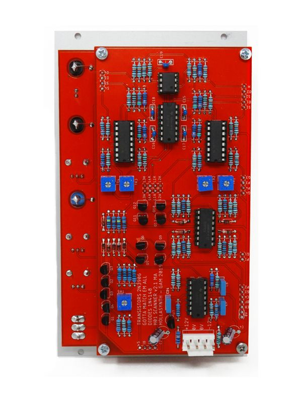 Scanner - 4U Four Channel Scanning VCA PCB & Panel | Hollasynth