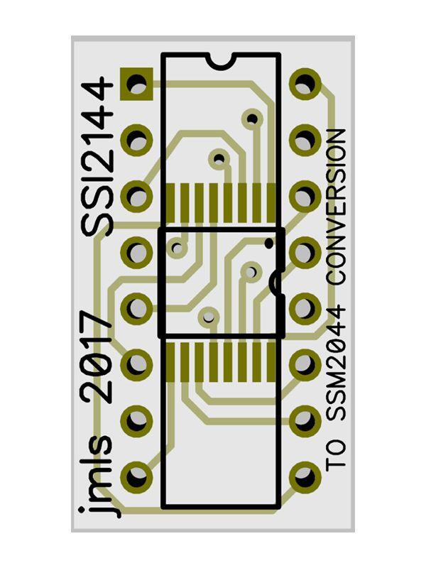 SS12144 to SSM2044 Conversion PCB