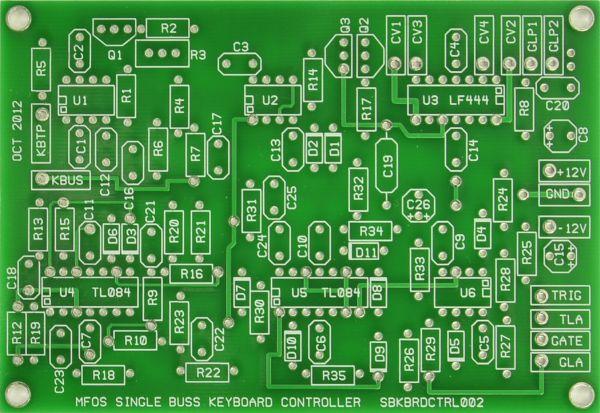 MFOS Keyboard Controller PCB