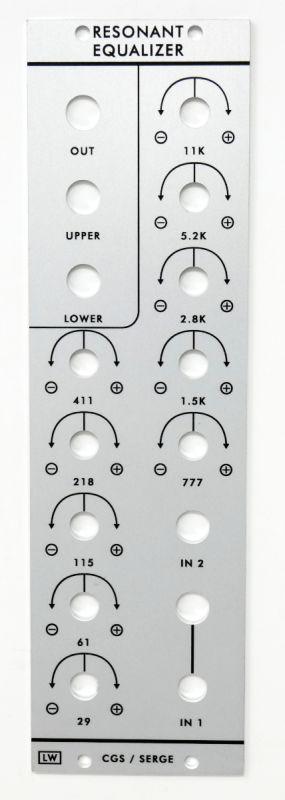 CGS202 - Serge Resonant Equalizer Panel   Loudest Warning