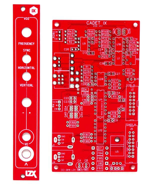 LZX Cadet IX Voltage Controlled Oscillator PCB/Panel