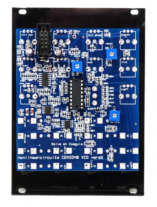 CEM3340 VCO - Panel (Black) - Nonlinear Circuits NLC   Magpie