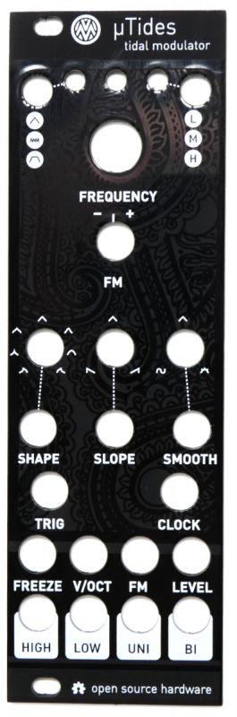 uTides: 8HP Tides Panel (black)