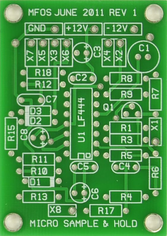 MFOS Micro Sample & Hold PCB