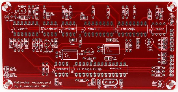Ambika Desktop Poly Synth Project Polivoks Voice Card PCB