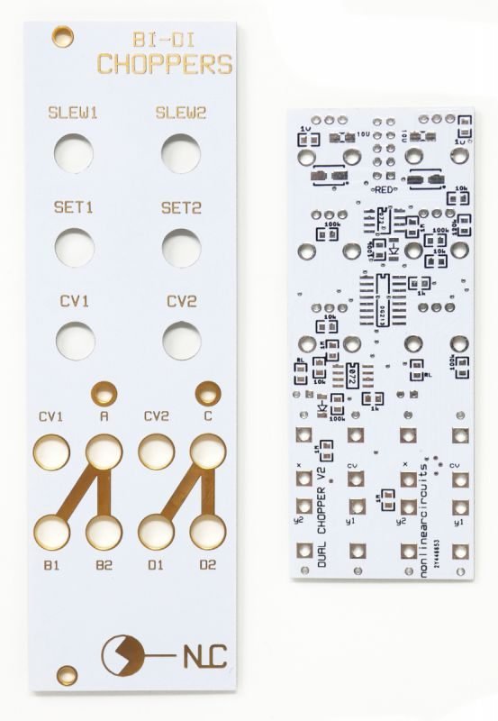 Bi-Di Choppers - CV Controlled 2:1 1:2 Switch + Slew | NonLinear Circuits