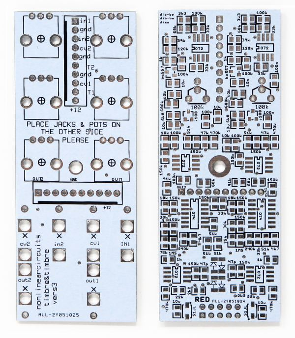 NonLinear Circuits Dual Timbre PCB