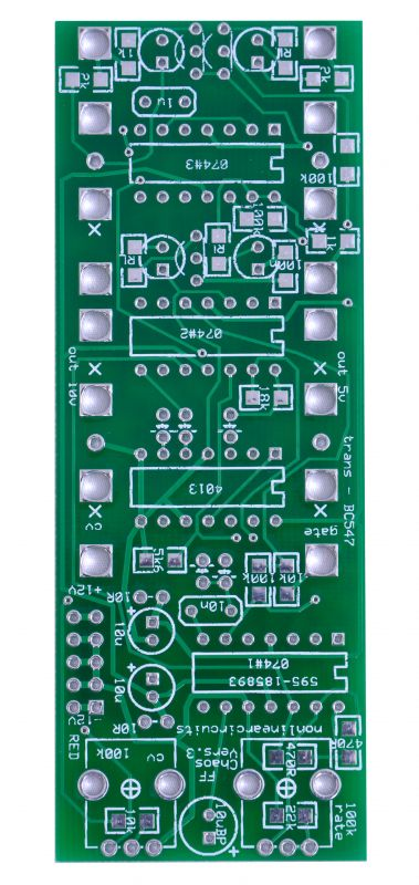 Nonlinearcircuits FlipFlop Chaos PCB