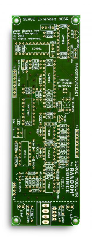 4U Serge - Dual Extended ADSR PCB / Panel   RandomSource