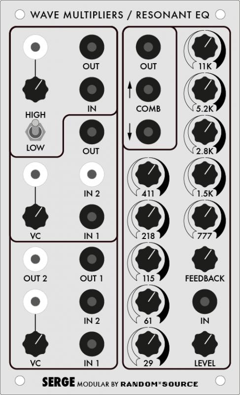 Serge Wave Multiplier / Resonant EQ Panel